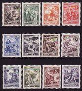 Yugoslavia 1950, Jobs, Definitives, 12 Stamps MNH ** Lux - 1945-1992 Sozialistische Föderative Republik Jugoslawien