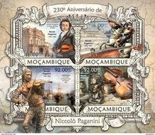 MOZAMBIQUE 2013 SHEET NICCOLO PAGANINI COMPOSERS COMPOSITEURS COMPOSITORES KOMPONISTEN Moz13215a - Mozambique