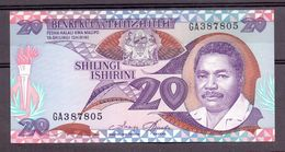 Tanzania 20 Shilling No English, Only Swahili UNC - Billets