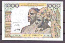 Ivory Coast 1000 Fr  ND UNC - États D'Afrique De L'Ouest