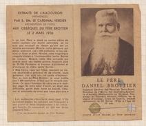 7AJ525  IMAGE PIEUSE RELIGIEUSE RELIQUE LE PERE DANIEL BROTTIER 2 SCANS - Devotion Images