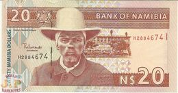 NAMIBIA 20 DOLLARS 2002 PICK 6a UNC - Namibia