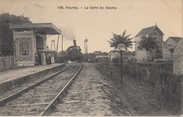 CARTE POSTALE DE FOURAS LES BAINS  / GARE / TRAIN / CHEMIN DE FER - Fouras-les-Bains