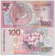 Suriname P-149, 100 Gulden, Hummingbird, Jasmine - Surinam