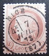 LOT R1631/1782 - CERES N°51 - CàD De NICE Du 7 JUILLET 1873 - 1871-1875 Cérès