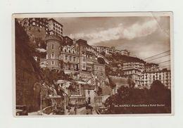 NAPOLI - PARCO GRIFEO E HOTEL BERTOI - 1936 - ANNULLO LOTTERIA AUTOMOBILISTICA DI TRIPOLI - 20 CENT FIERA MILANO - Napoli