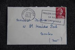 Enveloppe Envoyée , De TOULON à Destination De TOULON  ( YT/1011). - Storia Postale