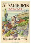 Rare // St.Saphorin, Francis Pinget  Vigneron à Rivaz, Vaud // Suisse - Etiquettes