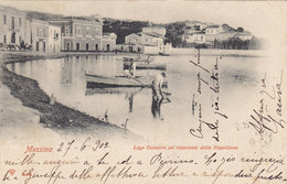 MESSINA /  Lago Ganzirri Col Ristorante Della Napolitana  _ Viaggiata 1902 - Messina