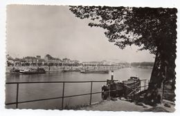 L'ILE SAINT DENIS --1954 -- Quai De La Marine (bateau à Vapeur + Péniche) --cachet -- Timbre...pas Très Courante - L'Ile Saint Denis