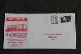 Enveloppe Publicitaire EURO FINATEL Envoyée Du LUXEMBOURG,à Destination De BEZIERS . - Lussemburgo