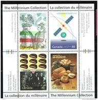 2000 Millenium Series  Large Companies: HUdson´s Bay, Bell, Vachon, Weston  Sheet Of 4 Different Sc 1834  MNH - 1952-.... Reign Of Elizabeth II