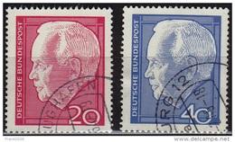 Germany 1964, President Heinrich Lubke, 20pf & 40pf, Sc#881-882, Used - [7] Federal Republic