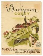 Rare // Burignon, ,Maurice Cossy Vigneron à St.Saphorin, Vaud // Suisse - Etiquettes