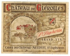 Rare // Château De Glérolles-St.Saphorin, Maurice Cossy, Vaud // Suisse - Etiquettes