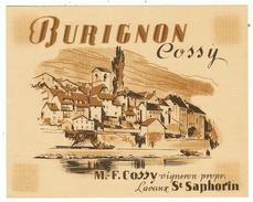 Rare // Burignon, Maurice Cossy Vigneron à St.Saphorin, Vaud // Suisse - Etiquettes
