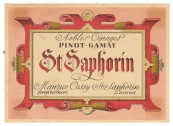 Rare // Pinot Gamay,, Maurice Cossy Vigneron à St.Saphorin, Vaud // Suisse - Etiquettes