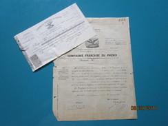 En 1898 Police D'assurance  Avenant  En 1900  COMPAGNIE FRANCAISE DU PHENIX - France