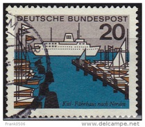 Germany 1964-65, North Ferry Pier - Kiel, 20pf, Sc#871, Used - [7] Federal Republic