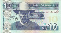 NAMIBIA 10 DOLLARS 2001 PICK 4a UNC - Namibie