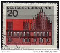 Germany 1964-65, Old Town Hall - Hanover, 20pf, Sc#869, Used - [7] Federal Republic