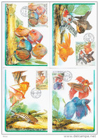 Czech Republic 2003 Ceska WWF W.W.F. Set X4 Cartes Maximum Fish Fishes - Cartoline Maximum