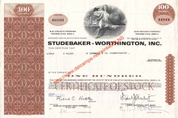 Studebaker-Worthington Action Aandeel Stock - Automobile