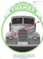 Ford Brochure - Fordson Thames Camion - A4 - 4pages - Camions