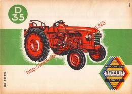 D35 Renault Tractor Tracteur - Buvard 20x14.5cm - Transports