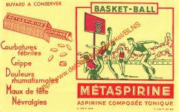 Métaspirine - Basket-ball - Aspirine - Buvard 21x13.5cm - Produits Pharmaceutiques