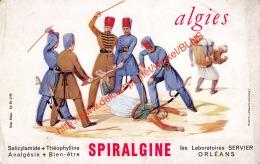 Spiralgine - Les Laboratoires Servier Orléans - Algies - 21x13.5cm Buvard - Produits Pharmaceutiques