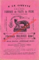 A La Civette - Aurillac - Fabrique De Filets De Pèche - Catalogue 13.5x21.5cm 8 Pages - Pêche
