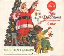 1968 Caldendar Coca-Cola - 18x15cm - 16 Pages - Calendars