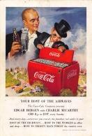Coca-Cola 1950 Annonce-advert-advertentie - Papier Légère Cartonné 25 X 17 Cm - Advertising Posters