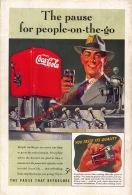 Coca-Cola 1941 Annonce-advert-advertentie - Papier Légère Cartonné 25 X 17 Cm - Advertising Posters