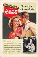 Coca-Cola 1939 Annonce-advert-advertentie - Papier Légère Cartonné 25 X 17 Cm - Manifesti Pubblicitari