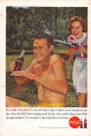 Coca-Cola 1960 Annonce-advert-advertentie - Papier Légère Cartonné 25 X 17 Cm - Advertising Posters