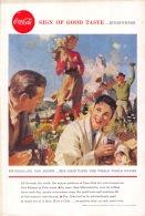 Coca-Cola 1958 Annonce-advert-advertentie - Papier Légère Cartonné 25 X 17 Cm - Advertising Posters