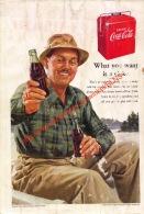 Coca-Cola 1952 Annonce-advert-advertentie - Papier Légère Cartonné 25 X 17 Cm - Manifesti Pubblicitari