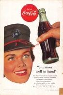 Coca-Cola 1953 Annonce-advert-advertentie - Papier Légère Cartonné 25 X 17 Cm - Advertising Posters