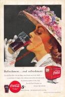 Coca-Cola 1949 Annonce-advert-advertentie - Papier Légère Cartonné 25 X 17 Cm - Affiches Publicitaires