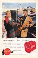 Coca-Cola 1949 Annonce-advert-advertentie - Papier Légère Cartonné 25 X 17 Cm - Advertising Posters