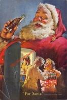 Coca-Cola 1950 Annonce-advert-advertentie - Papier Légère Cartonné 25 X 17 Cm - Affiches Publicitaires