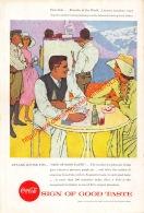 Coca-Cola 1957 Annonce-advert-advertentie - Papier Légère Cartonné 25 X 17 Cm - Affiches Publicitaires