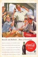 Coca-Cola 1948 Annonce-advert-advertentie - Papier Légère Cartonné 25 X 17 Cm - Manifesti Pubblicitari