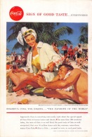 Coca-Cola 1958 Annonce-advert-advertentie - Papier Légère Cartonné 25 X 17 Cm - Manifesti Pubblicitari