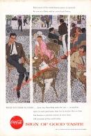 Coca-Cola 1957 Annonce-advert-advertentie - Papier Légère Cartonné 25 X 17 Cm - Advertising Posters