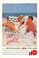Coca-Cola Annonce-advert-advertentie - Papier Légère Cartonné 25 X 17 Cm - Advertising Posters