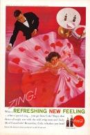 Coca-Cola 1961 Annonce-advert-advertentie - Papier Légère Cartonné 25 X 17 Cm - Affiches Publicitaires
