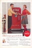 Coca-Cola 1955 Annonce-advert-advertentie - Papier Légère Cartonné 25 X 17 Cm - Manifesti Pubblicitari